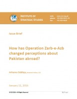 How has Operation Zarb-e-Azb changed perceptions about Pakistan abroad?