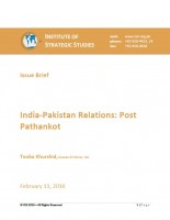 India-Pakistan Relations: Post Pathankot