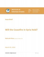 Will the Ceasefire in Syria Hold?