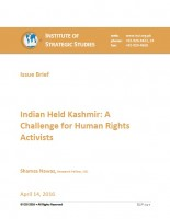 Indian Held Kashmir: A Challenge for Human Rights Activists