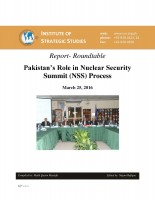 Report- Roundtable on Pakistan's Role in Nuclear Security Summit (NSS) Process