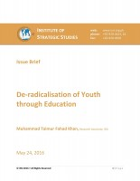 Issue Brief on De-radicalisation of Youth through Education