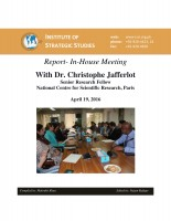 In-House Meeting with Dr. Christophe Jafferlot