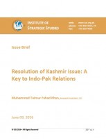 Issue Brief on Resolution of Kashmir Issue: A Key to Indo-Pak Relations
