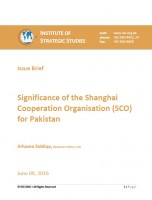 Issue Brief on Significance of the Shanghai Cooperation Organisation (SCO) for Pakistan