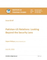 Issue Brief on Pakistan-US Relations: Looking Beyond the Security Lens