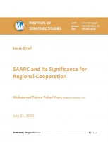 Issue Brief on SAARC and its Significance for Regional Cooperation