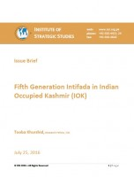 Issue Brief on Fifth Generation Intifada in Indian Occupied Kashmir (IOK)