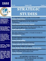 Strategic Studies (Vol. 36, Summer 2016, No. 2)