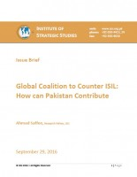 Issue Brief on Global Coalition to Counter ISIL: How can Pakistan Contribute