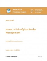 Issue Brief on Issues in Pak-Afghan Border Management