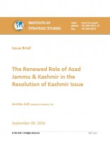 Issue Brief on The Renewed Role of Azad Jammu & Kashmir in the Resolution of Kashmir Issue