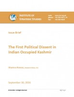 Issue Brief on The First Political Dissent in Indian Occupied Kashmir
