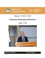 Public Talk on Pakistan-Romanian Relations