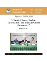 "Public Talk on ""Climate Change, Nuclear Disarmament and Humane Global Governance"""