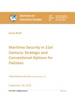 Issue Brief on Maritime Security in 21st Century: Strategic and Conventional Options for Pakistan