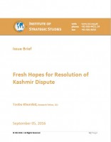 Issue Brief on Fresh Hopes for Resolution of Kashmir Dispute