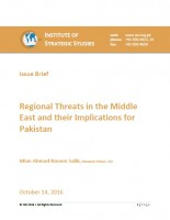 Issue Brief on Regional Threats in the Middle East and their Implications for Pakistan