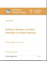 Issue Brief on Putting a Damper on Indian Attempts to Isolate Pakistan