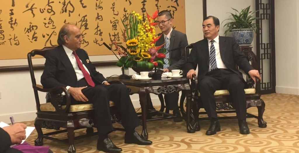 A five-member delegation from ISSI visit to China