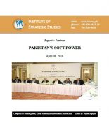 Seminar Report on PAKISTAN'S SOFT POWER