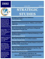 Strategic Studies (Vol. 36, Autumn 2016, No. 3)