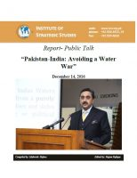 "Report- Public Talk on ""Pakistan-India: Avoiding a Water War"""