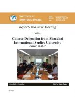 Report- In-House Meeting with Chinese Delegation from Shanghai International Studies University