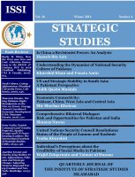 Strategic Studies (Vol. 36, Winter 2016, No. 4)