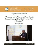 "Report-Book Launch ""Pakistan and a World in Disorder: A Grand Strategy For the Twenty-First Century"""