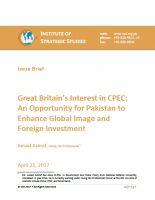 Issue Brief on Great Britain's Interest in CPEC: An Opportunity for Pakistan to Enhance Global Image and Foreign Investment