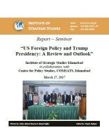 "Report – Seminar on ""US Foreign Policy and Trump Presidency: A Review and Outlook"""