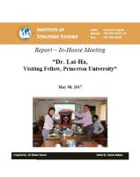 Report – In-House meeting with Dr. Lai-Ha, Visiting Fellow, Princeton University