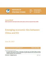 Issue Brief on Emerging economic ties between China and EU