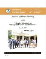 Report on In-House meeting with 6-Member Delegation from China Special Economic Zone Think Tank""