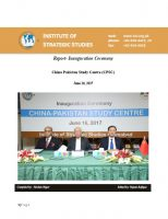 Report-Inauguration Ceremony of China Pakistan Study Centre