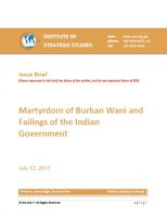 Issue Brief on Martyrdom of Burhan Wani and Failings of the Indian Government