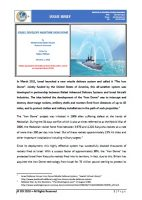 Issue Brief on Israel Develops Maritime Iron Dome