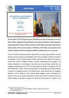 Issue Brief on NATO-MOLDOVA: Developing New Areas of Collaboration