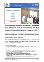 Issue Brief on Hambantota: Changing Hands