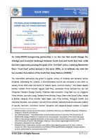 Issue Brief on The India-ASEAN Commemorative Summit and The Chinese Response