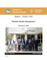 "Report – Public Talk on ""British Media Delegation"""
