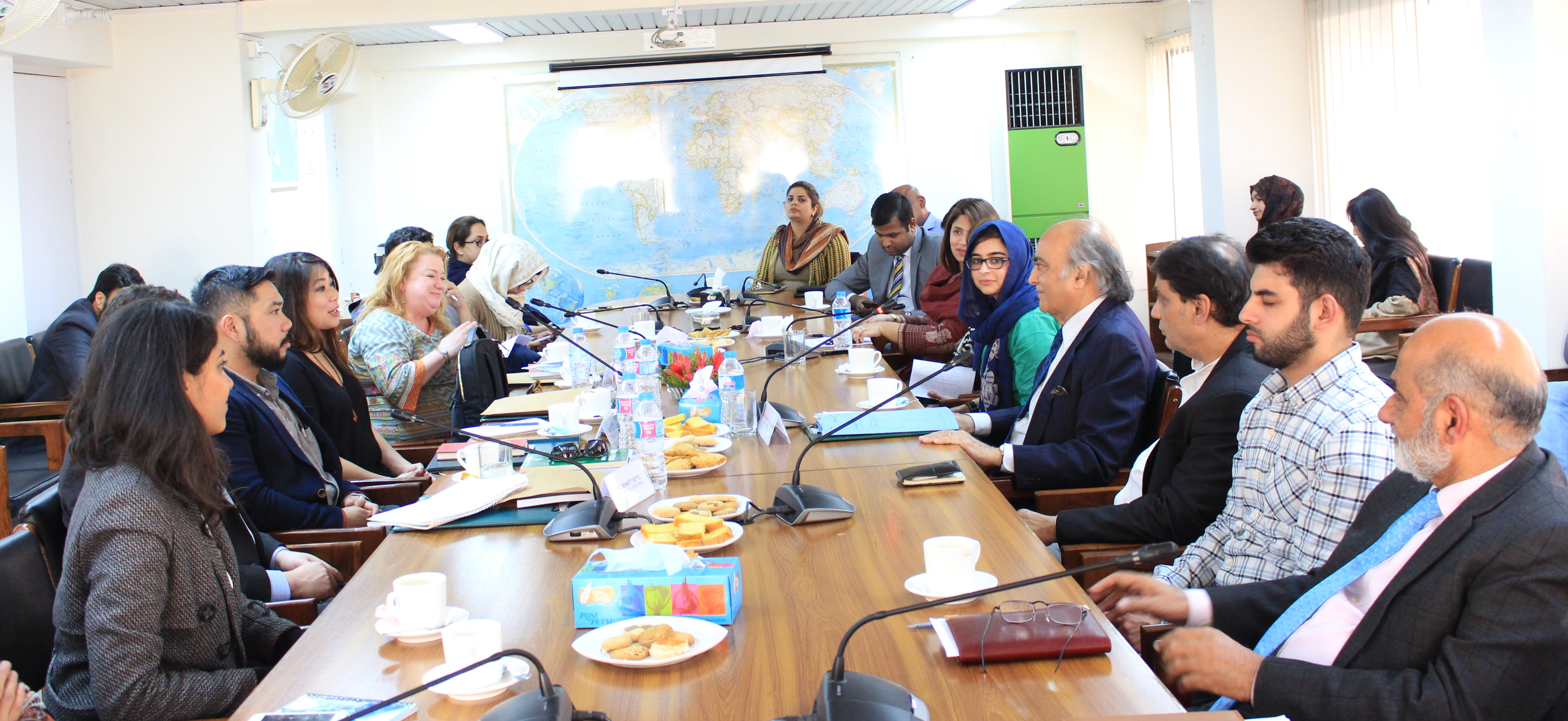 March 5, 2018: In-house meeting with a 4-member Media Delegation from United States of America