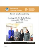 Report – In-House meeting with Ms Hollie McKay, Journalist, FOX News