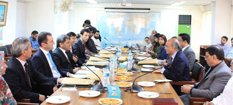 In-house meeting with a high powered delegation from the Republic of Tajikistan.