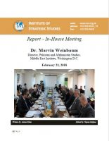 Report – In-house meeting with Dr. Marvin Weinbaum