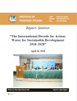 "Report- Seminar on ""The International Decade for Action: Water for Sustainable Development 2018-2028"""