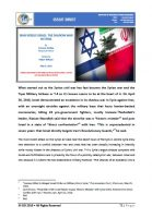Issue Brief on Iran Versus Israel: The Shadow War in Syria