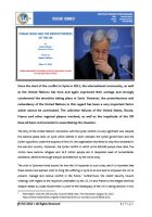 Issue Brief on Syrian Crisis and The Ineffectiveness of the UN
