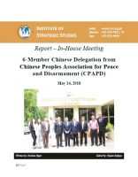 Report - In-House Meeting with 6-Member Chinese Delegation from CPAPD